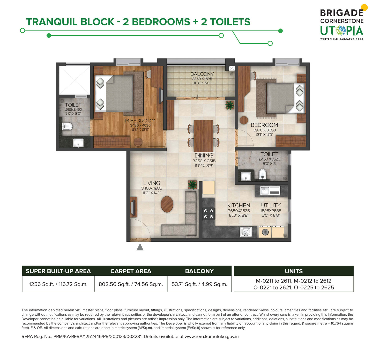 Tranquil 2bhk