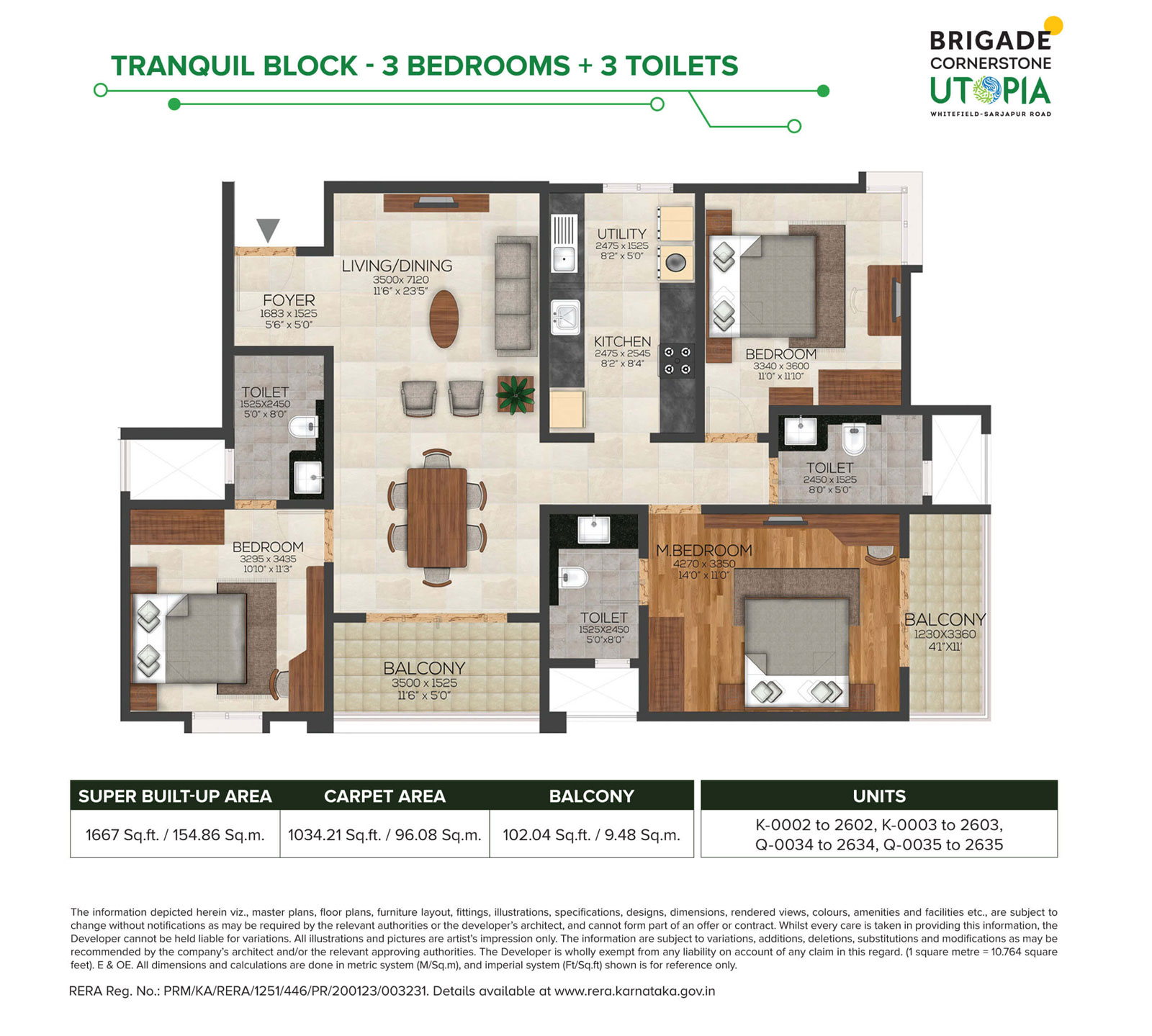 Tranquil 3bhk